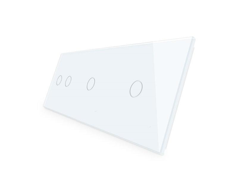 Livolo Design Glass Panel | 2-Gang + 2 x 1-Gang | 3 Hole