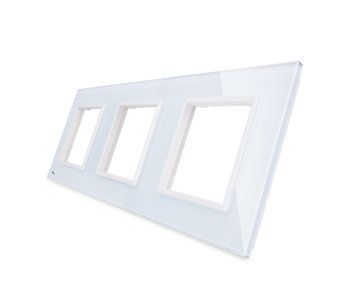 Livolo Glasplatte | 3 x Modul/Steckdose