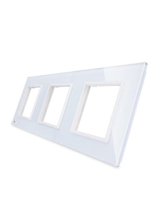 Livolo Glaspaneel | 3 x Module/Wandcontactdoos