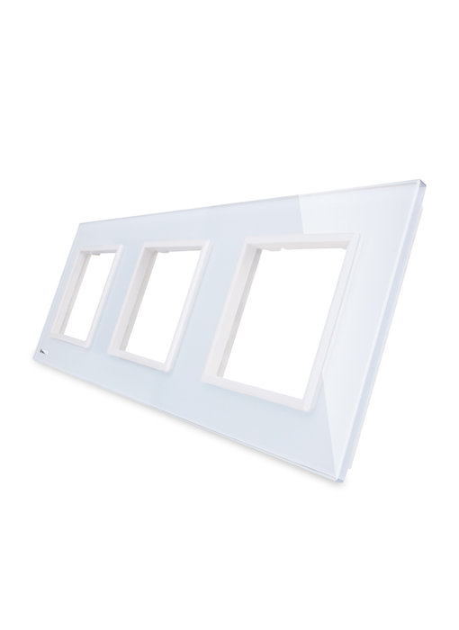 Livolo Glass Panel | 3 x Module/Socket