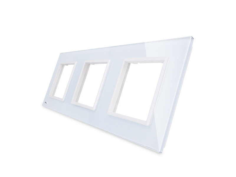 Livolo Design Glaspaneel | 3 x Module/Wandcontactdoos | 3 Raams