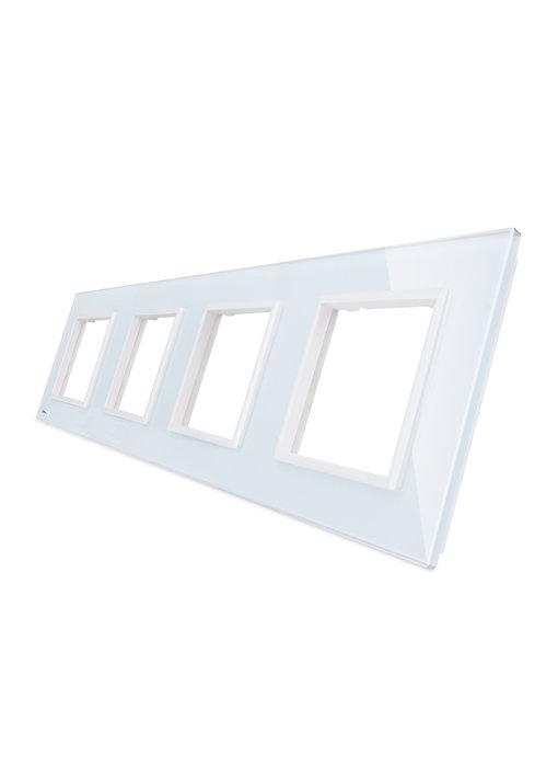 Livolo Glasplatte | 4 x Modul/Steckdose