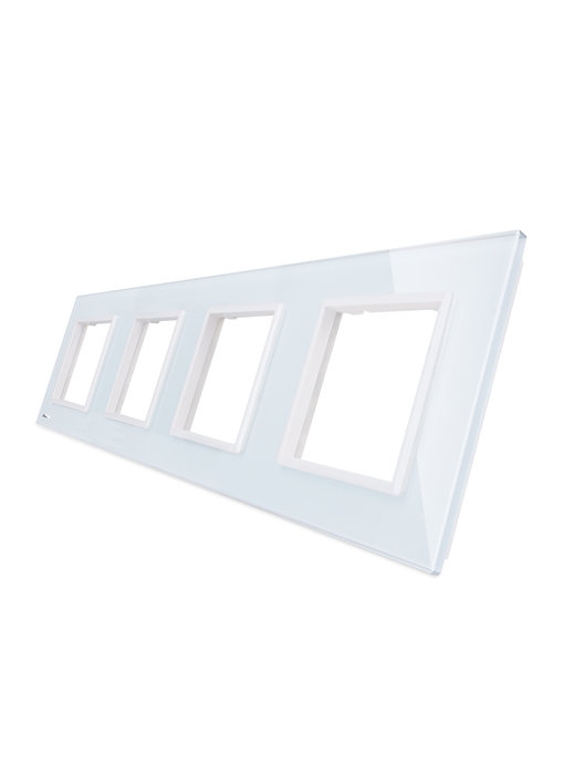 Livolo Glass Panel | 4 x Module/Socket