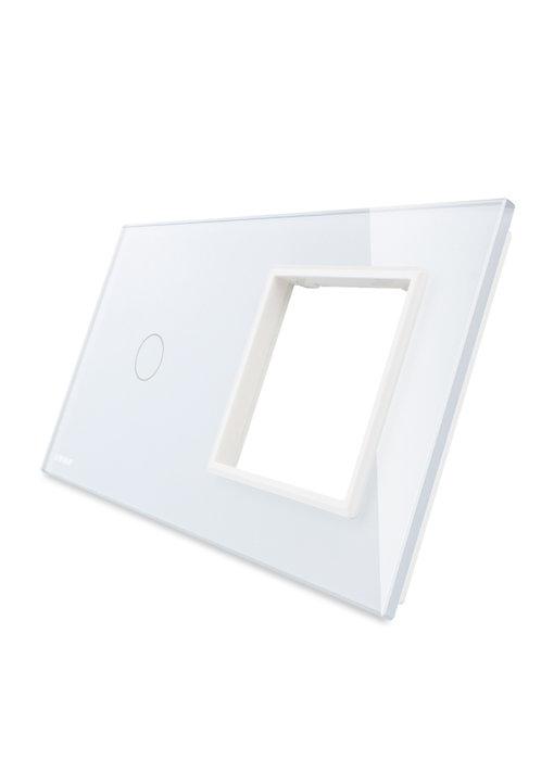 Livolo Glaspaneel | Enkelpolig + Module/Wandcontactdoos
