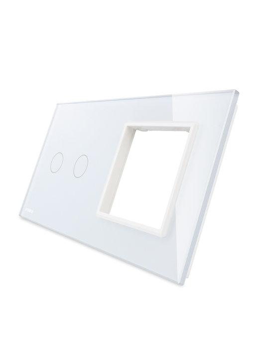Livolo Glasplatte | 2-Polig + Modul/Steckdose