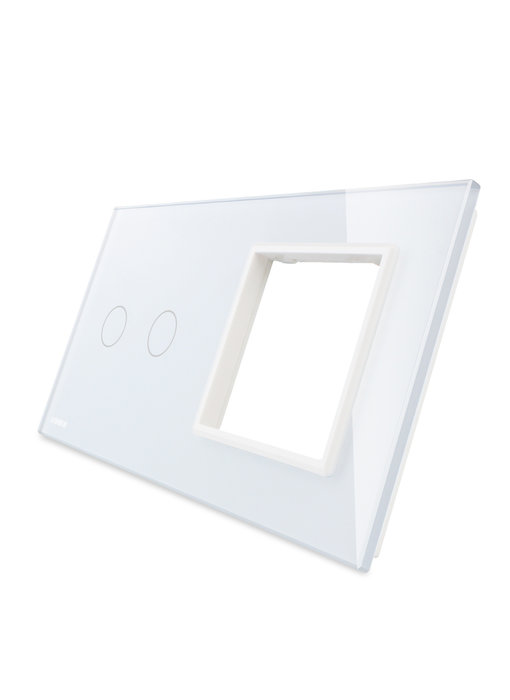 Livolo Glass Panel | 2-Gang + Module/Socket