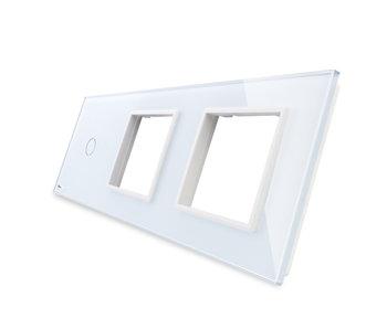Livolo Glaspaneel | Enkelpolig + 2 x Module/Wandcontactdoos
