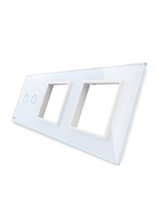 Livolo Glass Panel | 2-Gang + 2 x Module/Socket