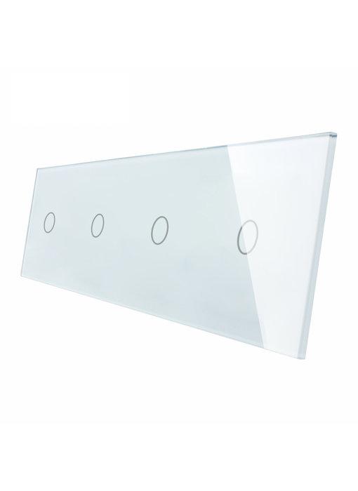 Livolo Glasplatte | 4 x 1-Polig