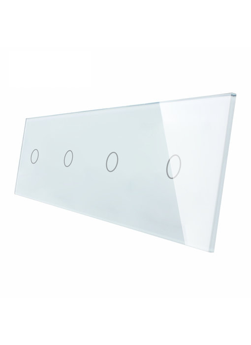 Livolo Glass Panel | 4 x 1-Gang