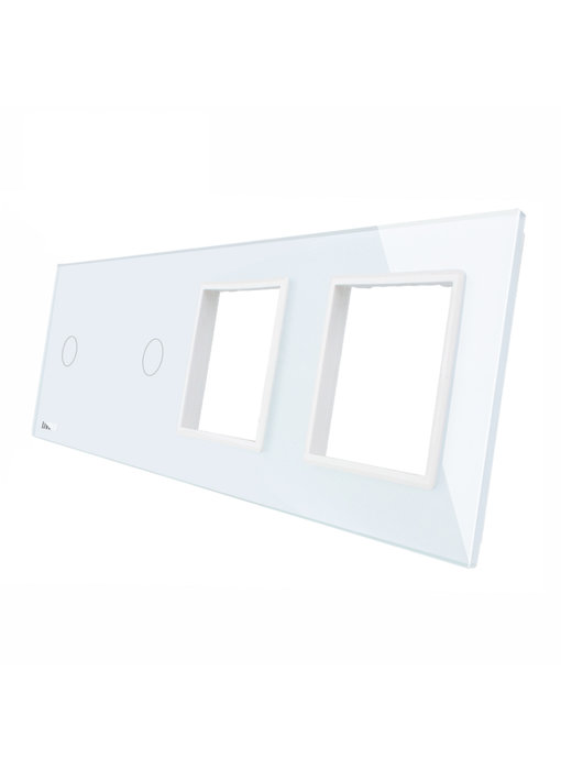 Livolo Glass Panel | 2 x 1-Gang + 2 x Module/Socket