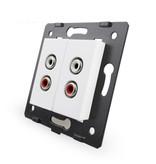 Livolo Design Module | Audio | 2 X Audio | 1 Hole