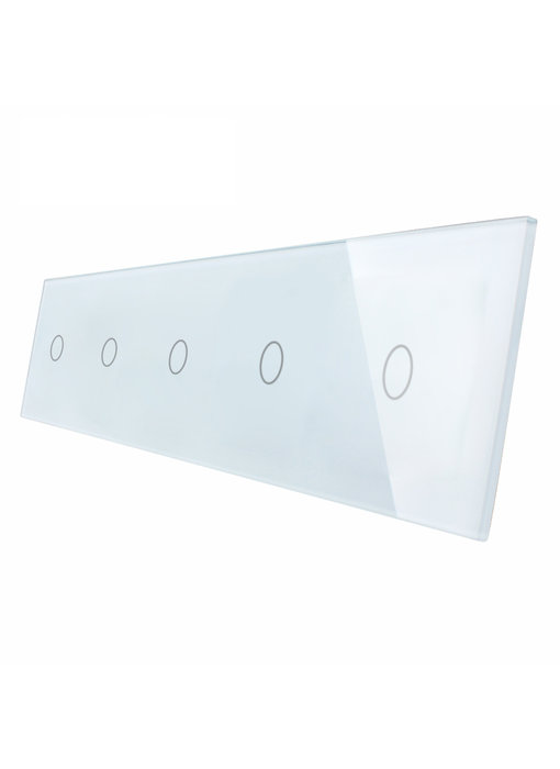 Livolo Glaspaneel | 5 x Enkelpolig