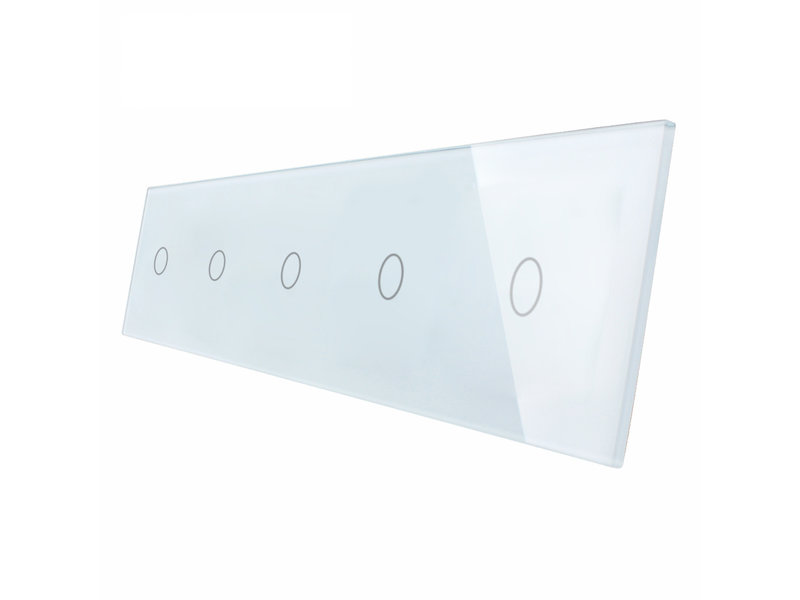 Livolo Design Glass Panel | 5 x 1-Gang | 5 Hole