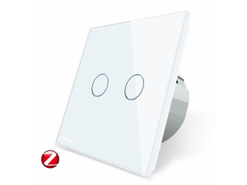 Livolo Design Touch Switch | 2 Gang 1 Way | 1 Hole |Zigbee | Smart Home