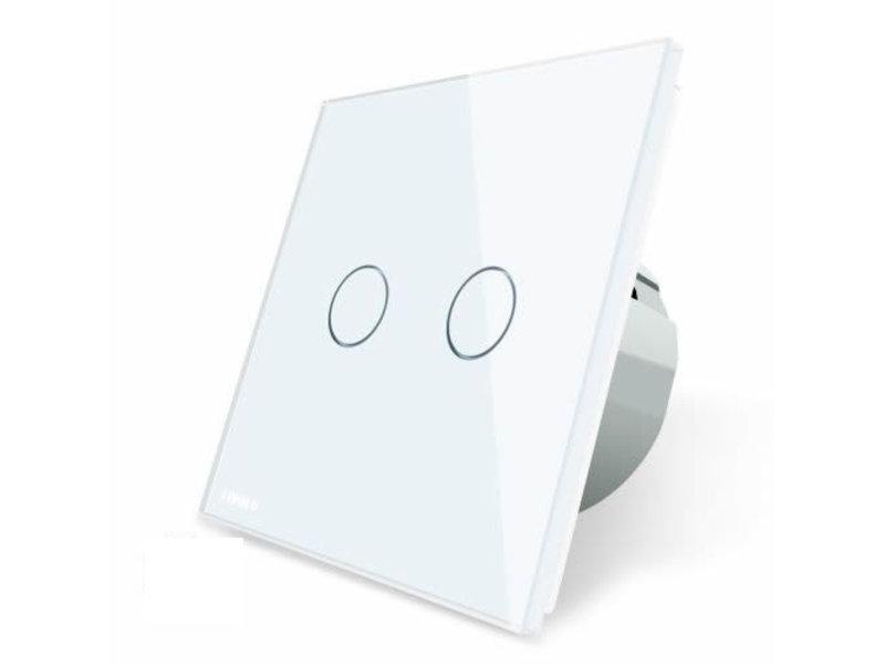 Livolo Design Touch Schakelaar | Serie | Geschikt voor Fibaro | 2-polig | 1 Raam