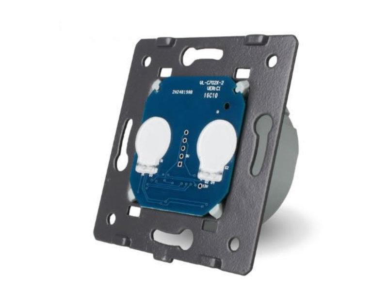 Livolo Design Touch Schalter | Serie | Geeignet für Fibaro | 2-polig | 1 Fach