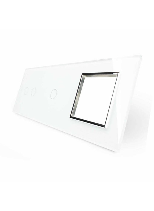 Livolo Glaspaneel | Serie + Enkelpolig + Module/Wandcontactdoos