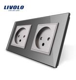 Livolo Design Steckdose | Zweifach | EU