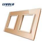 Livolo Design Glasplatte | Modul/Steckdose + Modul/Steckdose | 2 Fach