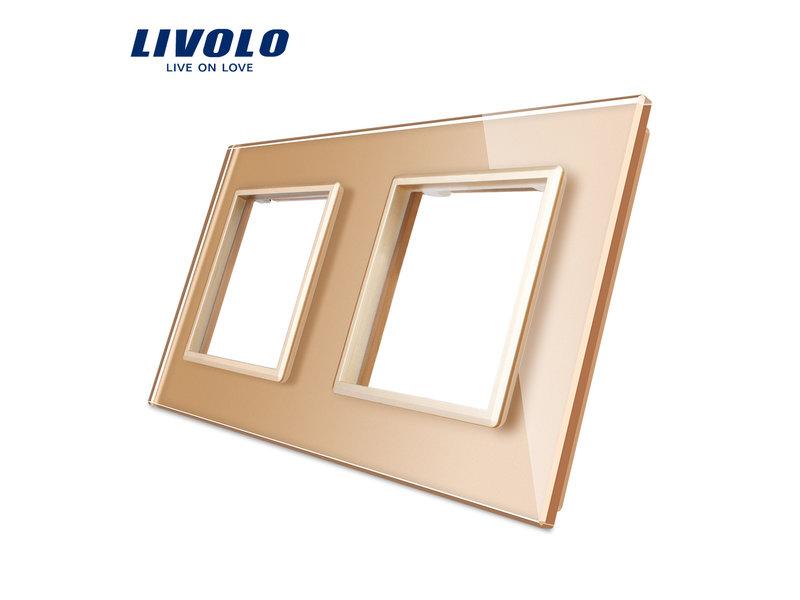 Livolo Design Glaspaneel | Module/Wandcontactdoos + Module/Wandcontactdoos | 2 Raams