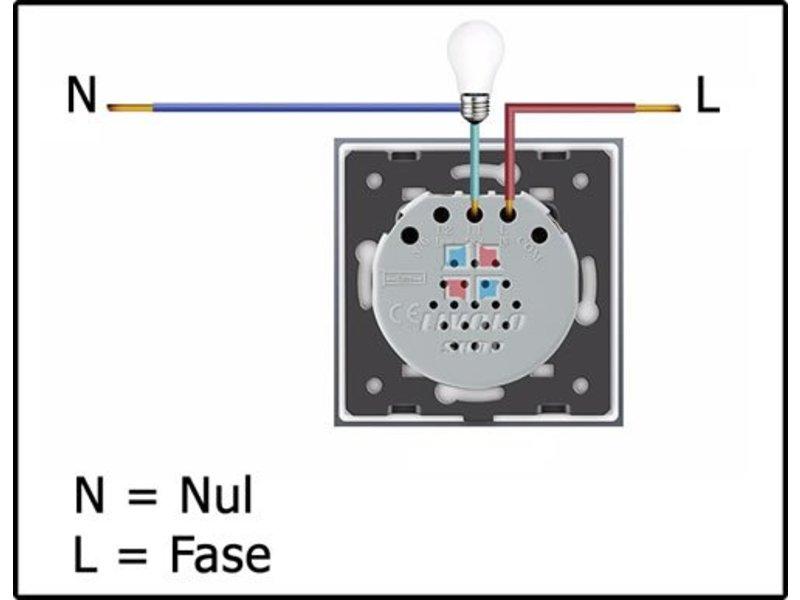 Livolo Module | Design Touch Switch | 1-pole | 1 Gang | 1 Hole | 12/24V