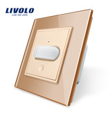 Livolo Design Touch Switch | PIR | Motion detector | 1 Gang 1 Way