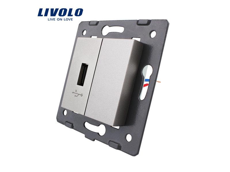 Livolo 1 X Design USB Module | 5V 2100 Mah | 1 Raam