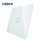 Livolo Design Glass Panel with Livolo Logo| 1-Gang | 1 Hole