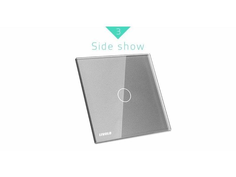 Livolo Design Glaspaneel met Livolo Logo | Enkelpolig | 1 Raams