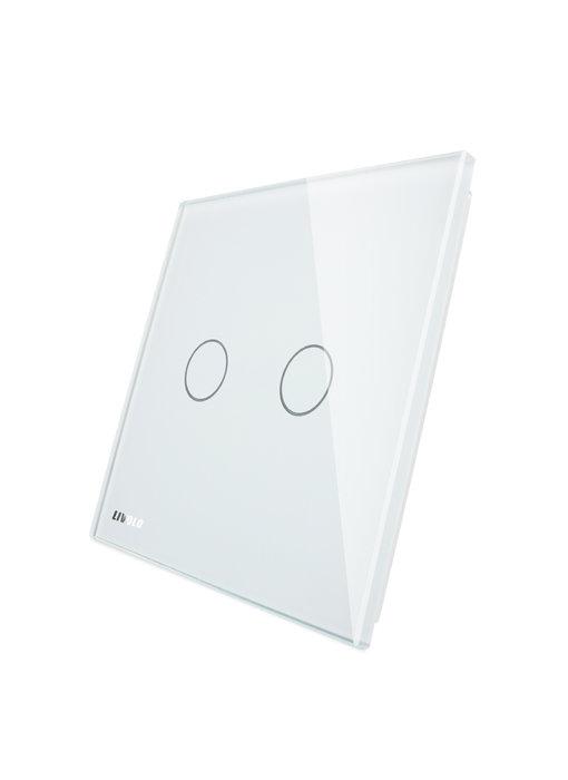 Livolo Glasplatte mit Logo | 2-Polig