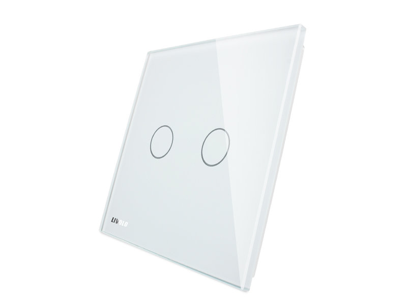 Livolo Design Glaspaneel met Livolo Logo| Serie | Tweevoudig | 1 Raams