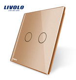 Livolo Design Glass Panel | 2-Gang | 1 Hole