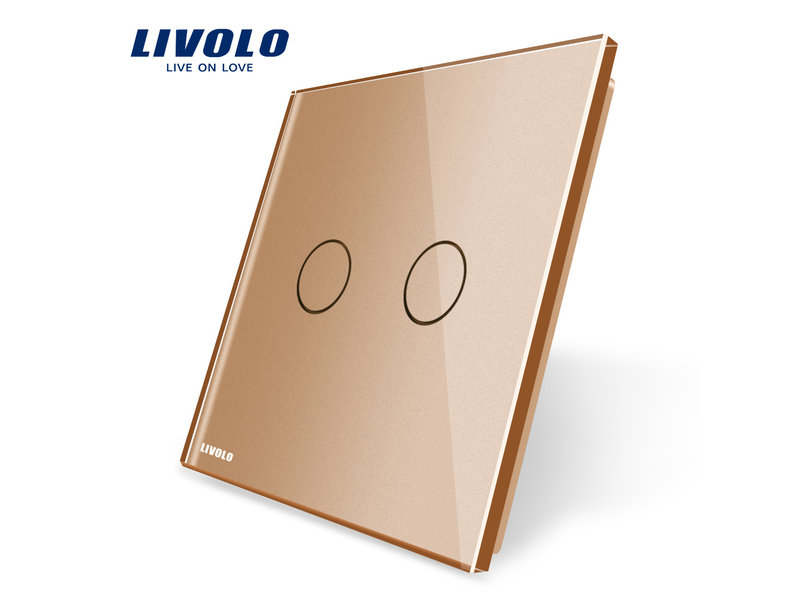 Livolo Design Glaspaneel | Serie | Tweevoudig | 1 Raams