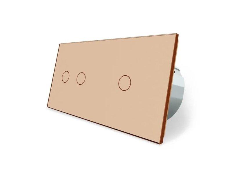Livolo Design Touch-Schalter | 2-polig + 1-polig | 2 Fach