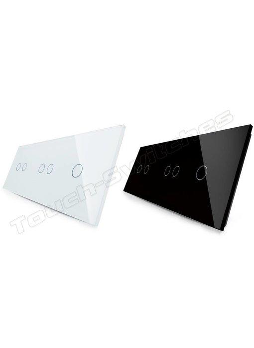 Livolo Glasplatte | 2 x 2-Polig + 1-Polig