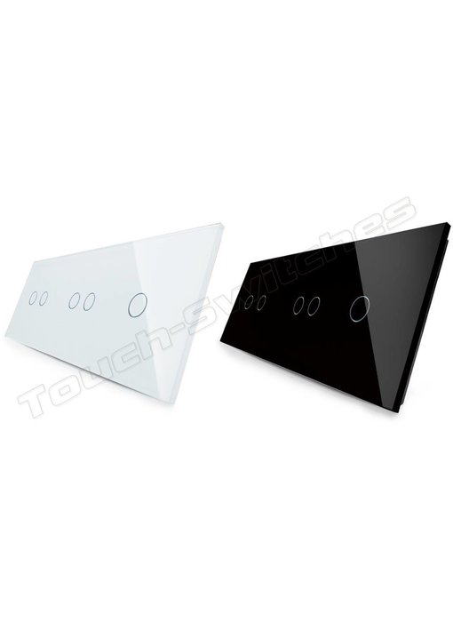 Livolo Glass Panel | 2 x 2-Gang + 1-Gang
