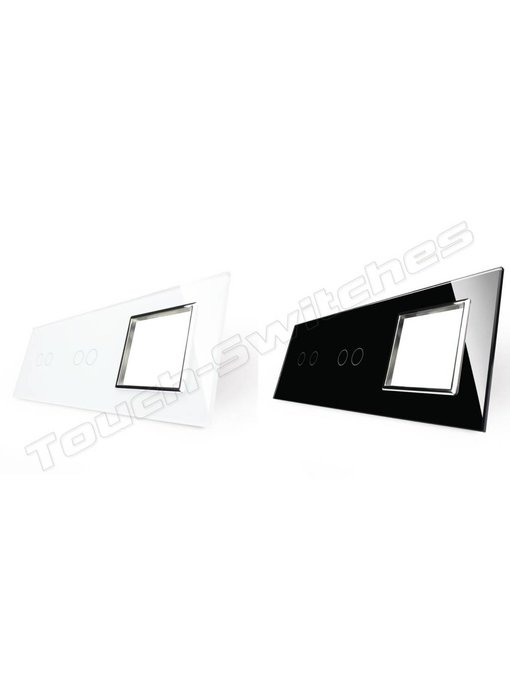 Glass Panel | 2 x 2-Gang + Module/Socket
