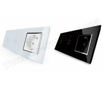 Livolo Touch Dimmer   2 x Single-pole + EU wall socket