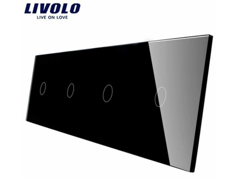 Design Glasplatte | 4 x 1-Polig | 4 Fach