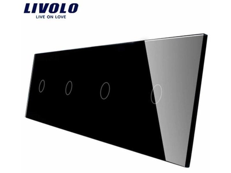 Livolo Design Glasplatte | 4 x 1-Polig | 4 Fach