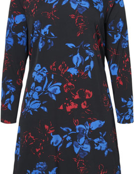 JUNAROSE Kleedje met bloemenprint en V-hals