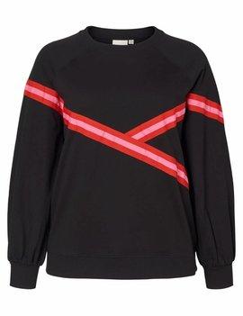 JUNAROSE Zwarte sweater met detail