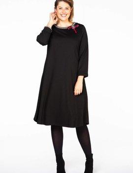 YOEK Zwart kleedje met Strass