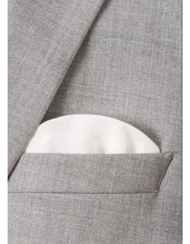 Paul Smith PAUL SMITH white pocket square featuring a 'Naked Lady'