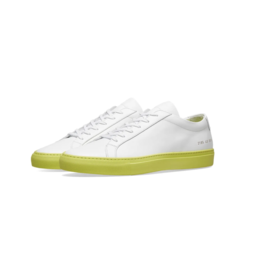 Common Projects 2195 ACHILLES COL SOLE WHT/YELLOW