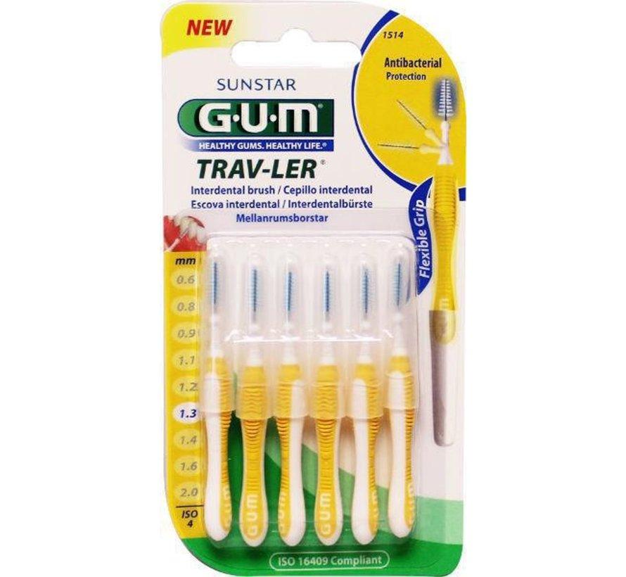 Gum Travler Ragers 1.3mm Geel - 6 stuks