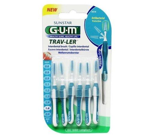 GUM Gum Travler Ragers 1.6mm Blauw - 6 stuks