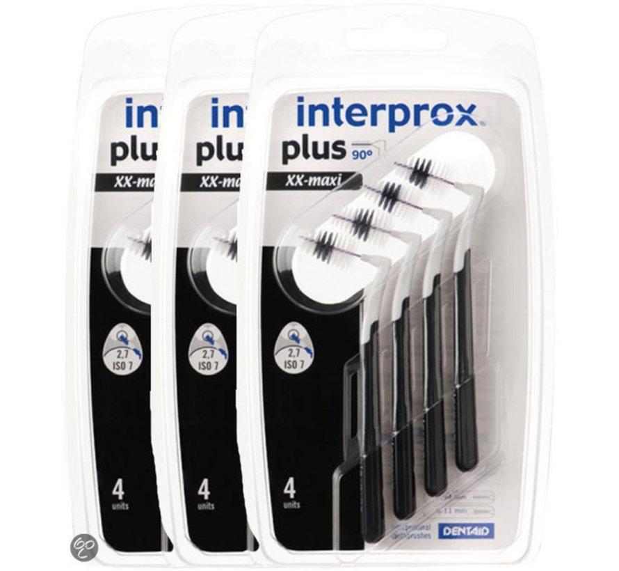 Interprox Plus XX Maxi 6mm-11mm Zwart - 3 x 4 stuks - Voordeelverpakking