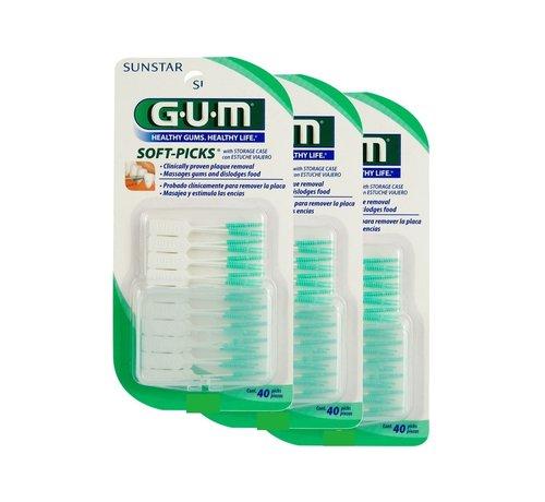 GUM Gum Soft-Picks Regular - 3 Stuks - Voordeelverpakking